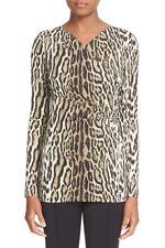 26a9643fe44a5 NEW Roberto Cavalli Leopard Print Jersey Top- Leopard size 44  790