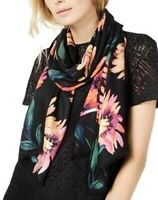 INC Brushed Flowers Pashmina One Size Scarf Black Bright - $36 - NWT