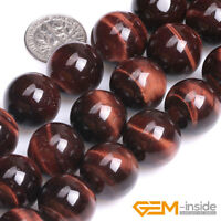 """Red Tiger's Eye Gemstone Round Beads For Jewelry Making 15"""" 6mm 8mm 10mm 12mm"""