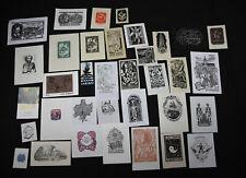 30)Nr.173- EXLIBRIS-und PF Europäische Künstler,  Konvolut 35  Blätter