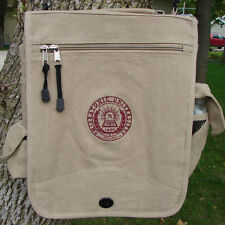 Canvas Messenger Bag Khaki Miskatonic University Lovecraft OffWorld Designs