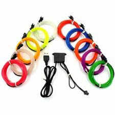 Led Lamp Car Decor Light Neon Usb Dance Party Flexible El Wire Rope Tube Strips