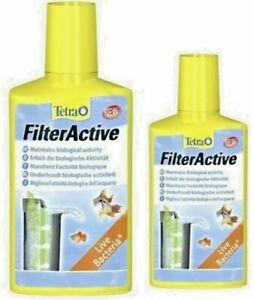 Tetra Filter Active Bacteria 100ml 250ml Tropical Coldwater Fish Tank Live Bacte
