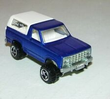 Hot Wheels Blue and White Ford Bronco 1980 Malaysia Mattel Near Mint