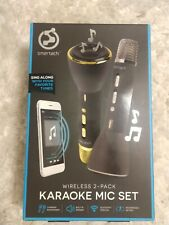 Smartech Wireless 2-Pack Karaoke Mic Set ( 1 Gold and 1 Pewter) - New