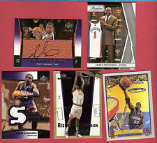 AMARE STOUDEMIRE SWEET AUTOGRAPH AUTO +GU JERSEY + CHROME REFRACTOR +2 NY KNICKS