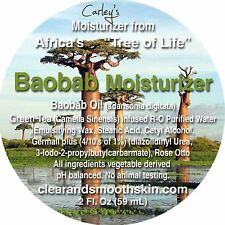 Baobab Moisturizer. From the Tree of Life