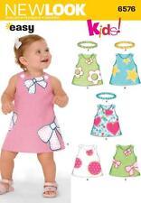 NEW LOOK sewing pattern bébés robe bandeau et Facile Taille NB-L 6576