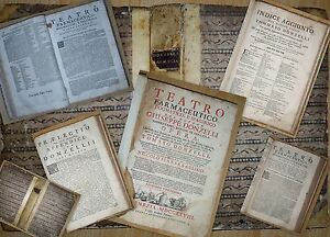 Teatro farmaceutico, dogmatico, e spagirico Giuseppe Donzelli ERBARIO RICETTARIO