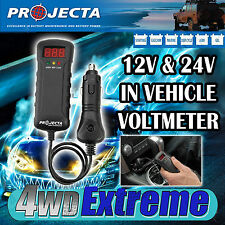 PROJECTA BT200 DUAL BATTERY SYSTEM MONITOR DIGITAL 12V & 24V VOLTMETER CARAVAN