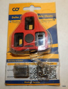 Pair Red Delta ARC Compatible Cleats Floating 9°