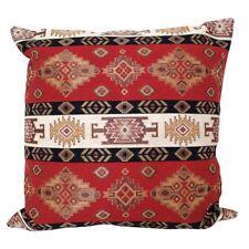 """Red/Cream Kilim Pattern Tapestry 18x18"""" Pillow Case/Cushion Cover (Velvet back)"""