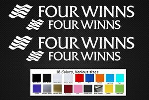 """Four Winns Boats Decal Set Stickers 12""""/9"""" Fishing Baitcaster Swim Bait Outboard"""