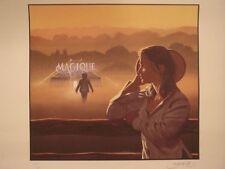 Affiche Roulée 40x50cm MAGIQUE Dessin Numéroté, DOMINIQUE BERTAIL Marie Gillain