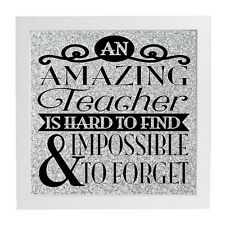 An Amazing Teacher Is Hard  Vinyl Decal for Ribba Box Frame End Of Term Gift