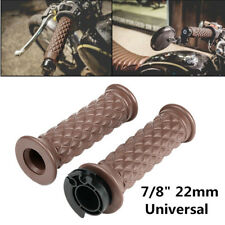 2x Wear-resistant Motorbike Bicycle Handlebars Hand Grips Covers Silicone Brown