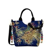 Florals Peacock Embroidered Women Shoulder Messenger Bag Satchel Purse Bags