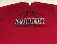 Lambert Longhorns Basketball T-Shirt Mens L/XL Georgia High School Win Forever