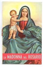Santino Holy Card La Madonna del Rosario 1955 Orfanotrofio Maschile R532