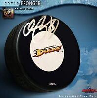 CHRIS PRONGER Signed Anaheim Ducks Puck