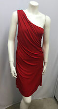 HAUTE HIPPIE ONE SHOULDER DRESS RED RAYON JERSEY GRECIAN GODDESS STYLE FITS M
