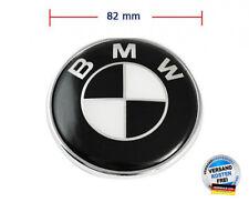 Plakette Emblem 82mm für BMW Motorhaube / Kofferraum 511481323 Schwarz / Weiß