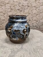 Art Pottery Candle Holder Signed Corky