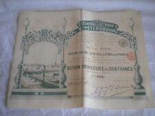 Vintage share certificate Stocks Bonds Eclairage electrique St Petersbourg 1897