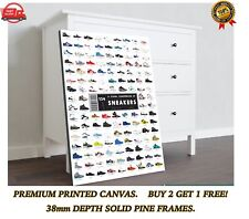 Trainers Sneakers Chart Large CANVAS Art Print Gift A0 A1 A2 A3 A4