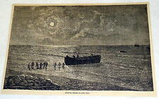 1882 magazine engraving ~ SHIPPING COFFEE IN COSTA RICA