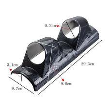 """Carbon Side Car 2"""" 52mm Universal Two Hole DashBoard Gauge Pod Holder"""