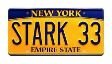 The Avengers | Tony Stark's Acura | STARK 33 | Metal Stamped Prop License Plate