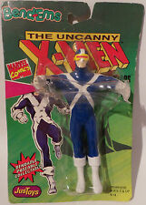 X-MEN : CYCLOPS BENDABLE CARDED ACTION FIGURE MADE IN 1991 BY JUST TOYS