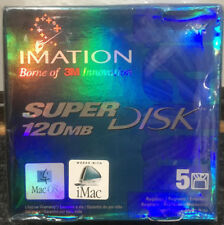 Imation SuperDisk 120MB Mac Formatted NOS Mint Never Opened SEALED Box of 5
