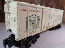 LIONEL LIONEL SAVINGS BANK BANK CAR NO 6050 5-58-5
