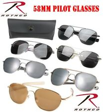 ec53fc1f1ba 58mm Aviator Type Pilot Sunglasses W   Bayonet Temp W Case Rothco 10804