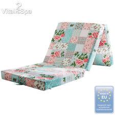 VitaliSpa®matelas pliable pliant lit d'invité couchette lit de voyage patchwork
