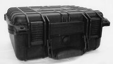 Tactical Case 14 Inch Black, Cubed Foam Interior for Equipment Weather/Water