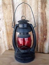 VTG RR?  Oil Lamp Red Globe Blue Grass Air Pilot Belknap Hdw