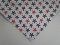 Patriotic Stars Dog Bandanas Red White Blue Custom Made By Linda xS,S,M,L,XL