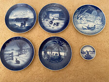 Six (5)Royal Copenhagen Denmark Christmas Collector Plates 1968-1972 +1 Small