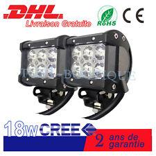 2x18W Cree Rampe LED phares longue portée Moto camion 12V 24V tondeuse grue BTP