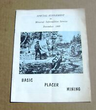 1963 Basic Placer California Mining Mineral Information Service Brochure