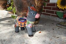 Donkey Burro Talavera Pottery Home Kitchen Patio Garden Pot Decor