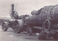 1901 CABINET PHOTO SCOTLAND THWAITE'S OAK 500 YEAR OLD TREE LARGE STEAM TRACTOR