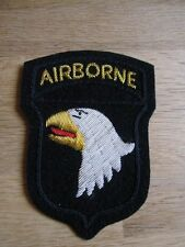Original Airborne patch 101st parachutiste US Army D-DAY Normandie Nam wk2 wwii