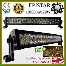 LED Light Bar 120W Spot Flood Work Lamp SUV Recovery PICKUP Truck +5mt LED strip