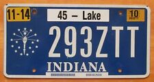 Indiana 2010 LAKE COUNTY License Plate HIGH QUALITY # 293ZTT