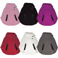 Girls Pull on Cape Kids Asymmetrical Poncho Button Detail Coat Sizes 3-14 Years