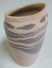 Eric Juckert Signed Vase - Australian Pottery - Blue / Grey and Natural Tones